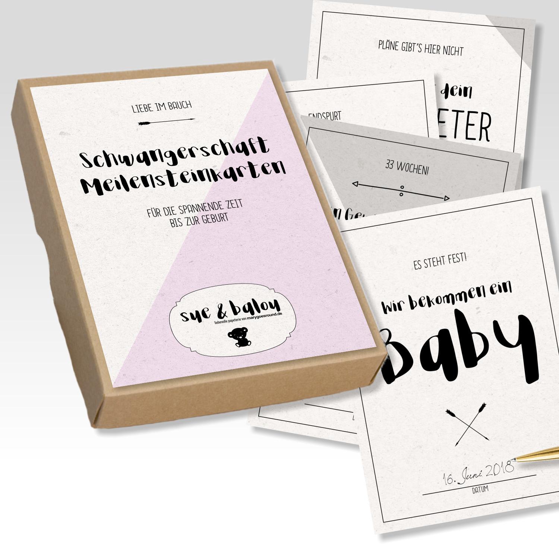 Schwangerschaft-Meilensteinkarten